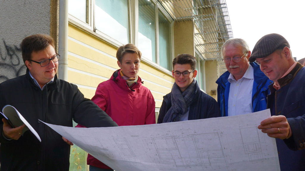 von links: Christoph Herold, Nina Klett, Moritz Regenspurger, Dietmar Westhäuser und Stephan Schink